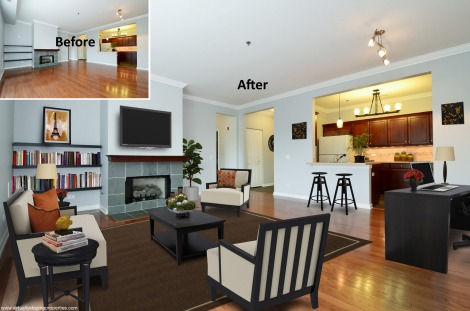 virtual home staging a picture of real estate listings. Black Bedroom Furniture Sets. Home Design Ideas